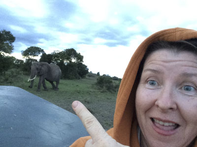 Safari selfie by NJ Wight